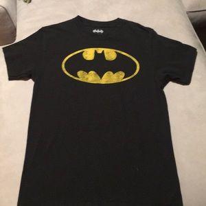 Batman Yellow Logo Short Sleeve Small T-Shirt